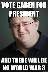 War Meme - vote gaben for president and there will be no world war 3 world