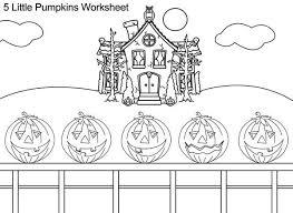5 little pumpkins coloring page lawslore info