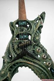 biomechanical guitar tattoo design tattoo viewer com