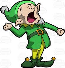 a yawning elf cartoon clipart vector toons