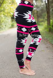 pattern leggings pinterest the pink lily boutique black and pink aztec leggings 18 00