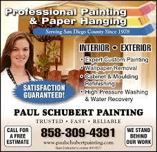 paul schubert painting inc san diego ca 92111 yp com