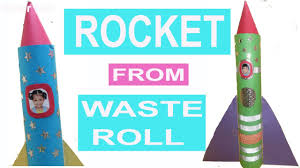 rocket craft toilet paper roll craft best out of waste