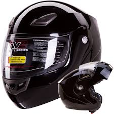 motorcycle accessories amazon com modular flip up motorcycle helmet gloss black dot 936