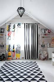 Ikea Nursery Curtains by Kids Curtains And Wallpaper Pattern Black White Stripes Children