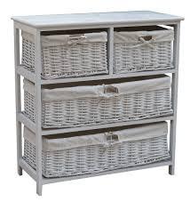 Storage Cabinet Charles Bentley Wooden Wicker Drawer Storage Cabinet