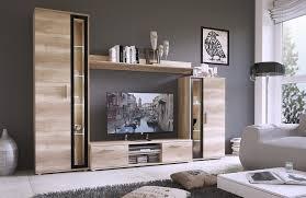 meuble tv mural avec led bois blanc