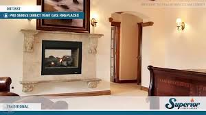 superior drt35st direct vent see through gas fireplace youtube