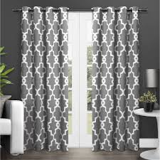 Grommet Window Curtains Ideas Exclusive Home Ironwork Blackout Thermal Grommet Top Window
