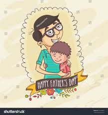 happy fathers day celebrations concept stock vector