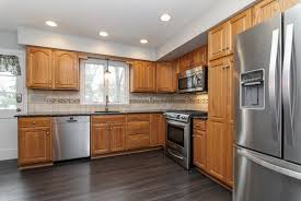 gray kitchen floors with oak cabinets gray laminate flooring with oak cabinets laminate flooring