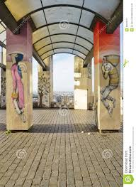 wall mural paintings by famous french street artist seth editorial stock photo
