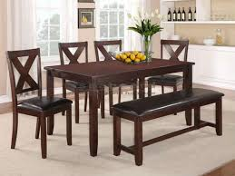 6 pc dinette kitchen dining room set table w 4 wood chair clara rosa 6 piece dining room furniture in warm brown