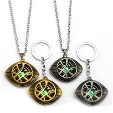 chain ring necklace images Hot doctor strange keychain eye logo metal pendant key holder jpg
