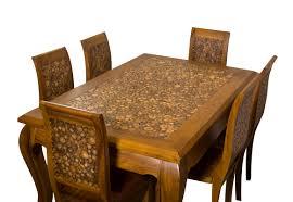 log dining table teak wood avanica inc