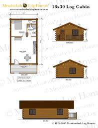 log cabin plan 18x30 log cabin meadowlark log homes