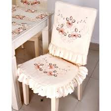 dining table chair covers embroidered hollow tablecloth dining table chair cover set tea