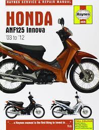 honda anf125 innova service and repair manual haynes service and