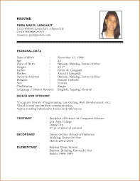 resume format download in word resume template download word personal biodata format regarding