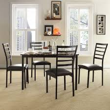 Marble Dining Room Table 5 Piece Stinson Faux Marble Dining Set
