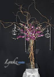 curly willow centerpieces holder candle holders with hanging crystals beautiful guest table