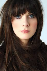 blunt fringe hairstyles zooey deschanel hairstyle with blunt bangs