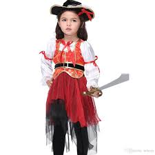 Girls Halloween Pirate Costume Pirate Costume Dress Halloween Costume Kids Performance Dance