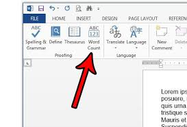 How To Count Number Of Words In Word Document How To Do A Word Count In Word 2013 Solve Your Tech