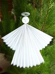 Angel Christmas Tree Decorations Make by Paper Crafts For Children Christmas