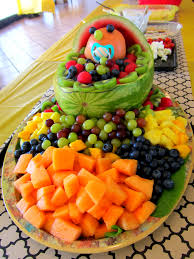 fruit bassinet for baby shower baby shower decoration