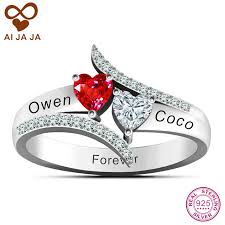 sterling promise rings images 925 sterling silver love 39 s promise rings personalized couples name jpg
