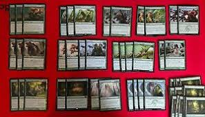 Modern Budget Deck Mtg Budget Modern Green Hydra Titan Wilds Stompy Deck Box Sleeves