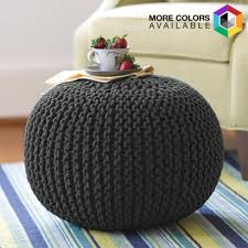 Knitted Ottoman Cotton Craft Knitted Pouf Ottoman Only 34 99 Reg 129 99