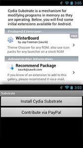 cydia android what is cydia substrate for android how to install winterboard on it