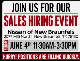 nissan finance opening hours career fair nissan of new braunfels