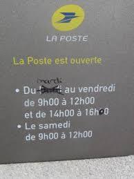 bureau de poste ouvert samedi gildas des bois ce lundi le bureau de poste change d horaires