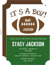 football baby shower boy baby shower invitations