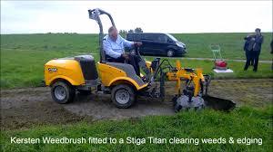 kersten ub weedbrush and stiga titan diesel youtube