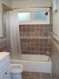 brown tile bathroom small bathroom designs with shower and tub decoration using square