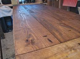 Making A Wood Plank Table Top by New And Improved Farmhouse Table Details Tommy U0026 Ellie