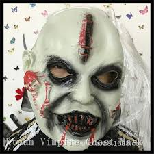 terror halloween mask horrible toothy ghost face mask creepy latex