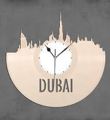 vinyl wall clock dubai skyline wall clock cityscape clock
