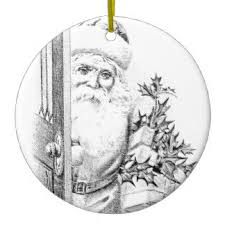 saw mommy kissing santa claus gifts on zazzle