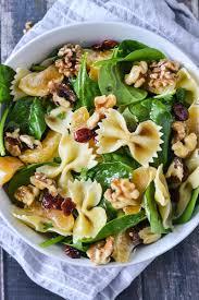 pasta salad mandarin orange and spinach pasta salad mother thyme