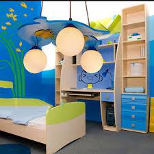 blue child room lighting boy cartoon warm bedroom light led