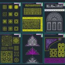 islamic pattern cad drawing autocad collection of islamic decoration pieces architecture for