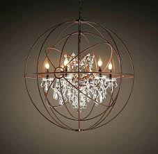 Sphere Chandelier With Crystals Rustic Chandeliers With Crystals Medium Size Of Large Rustic