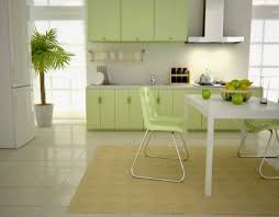 Contemporary Kitchen Decorating Ideas by Design Fabulous Grey Wall Kitchen Decor With Light Green Cabinets