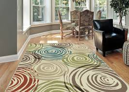 Area Rugs With Circles Ivory Contemporary Circles Area Rug Modern Geometric Swirls Multi