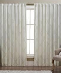 artistic linen cream verona rod pocket jacquard window panel set